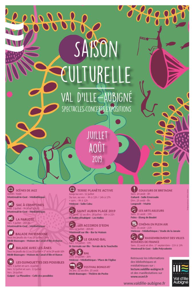 affiche agenda culturel juillet-aout 2019