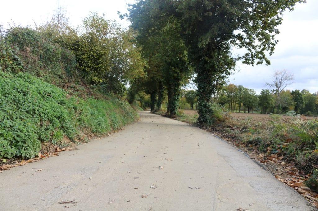 photo piste cyclable Vignoc - La Mézière