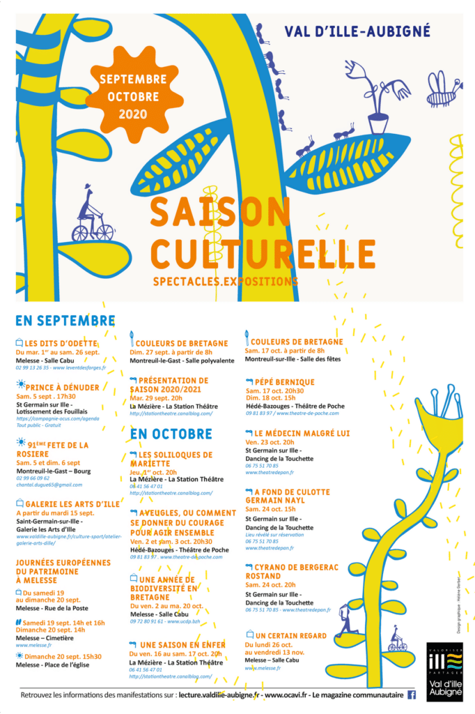 affiche agenda culturel septembre-octobre 2020