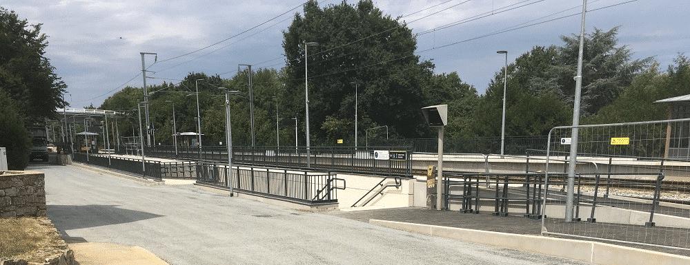 passage souterrain halte TER St Médard sur Ille