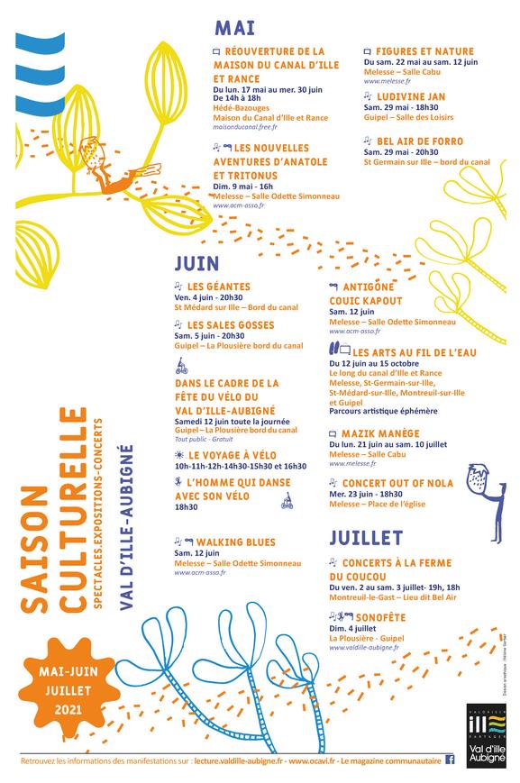 affiche agenda culturel mai-juin-juillet 2021