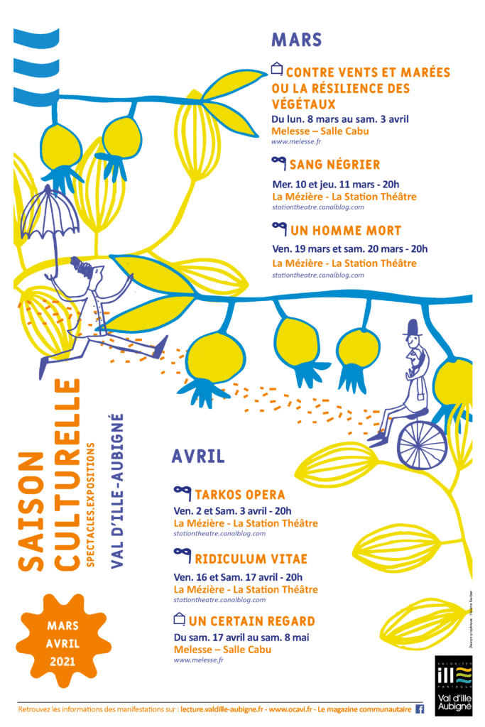 affiche agenda culturel mars-avril 2021